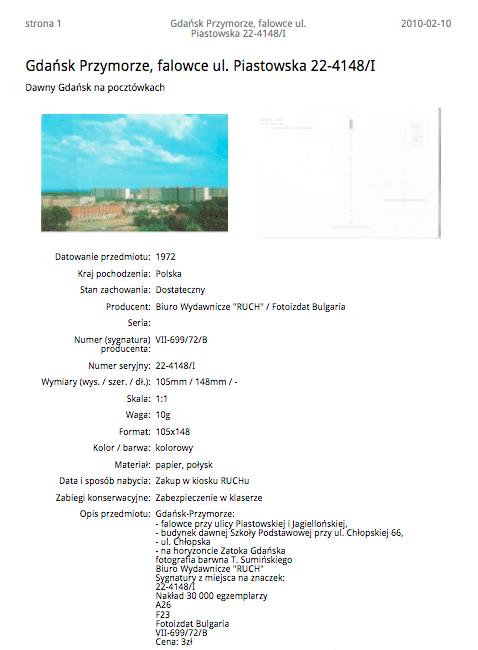 Przykładowa karta katalogowa